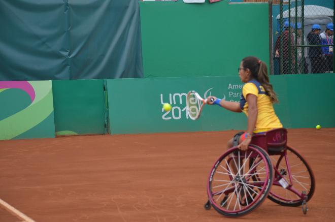 Tenis en silla de ruedas/ FOTO: COTRESÍA COMITÉ PARALÍMPICO COLOMBIANO