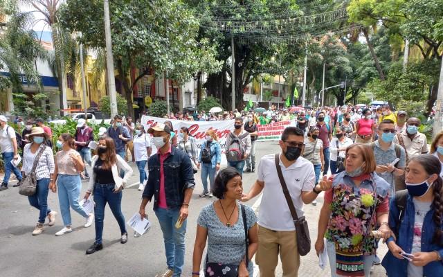Así ha transcurrido la marcha convocada para hoy en Medellín